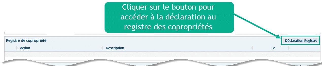 acceder aux déclarations du registre des copropriétés