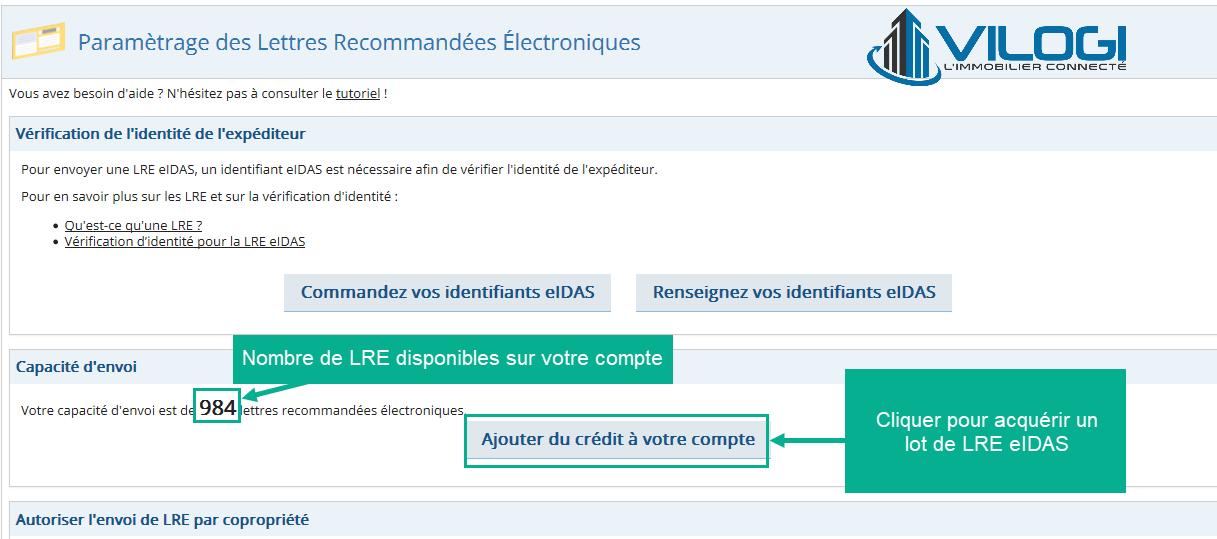 Acheter des LRE eDIAS sur le logiciel syndic de copropriété