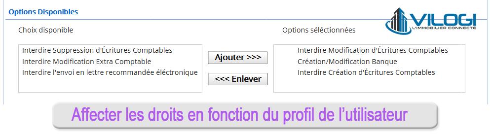 Attribuer les droits en fonction du profil de l'utilisateur du logiciel