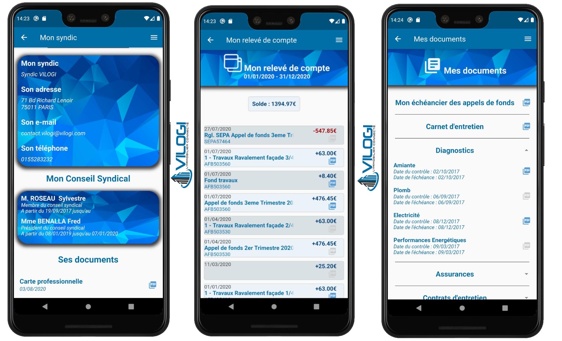 Application mobile pour les copropriétaires