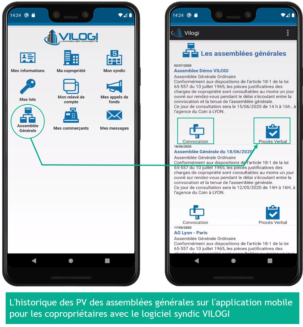 Les pv d ag disponibles sur l application mobile pour vos copropriétaires