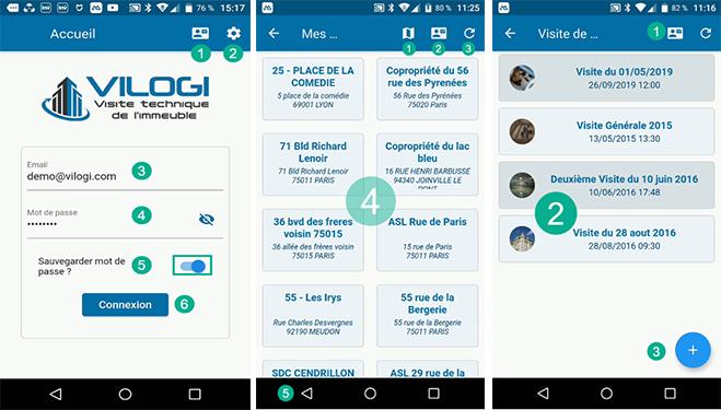 Application mobile pour la visite technique de l'immeuble de VILOGI