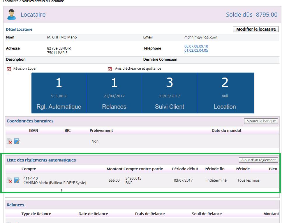 règlement automatique de l assurance au locataire avec le logiciel de gestion locative VILOGI