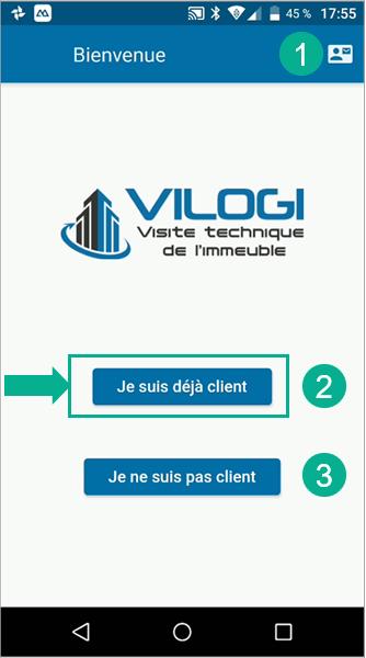 Connection client à l application visite technique de l immeuble