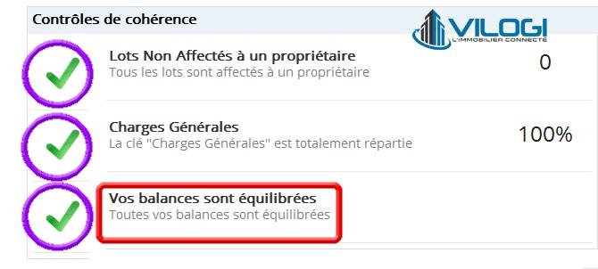 Vérification de l équilibre des comptes modifiés sur l écran d accueil