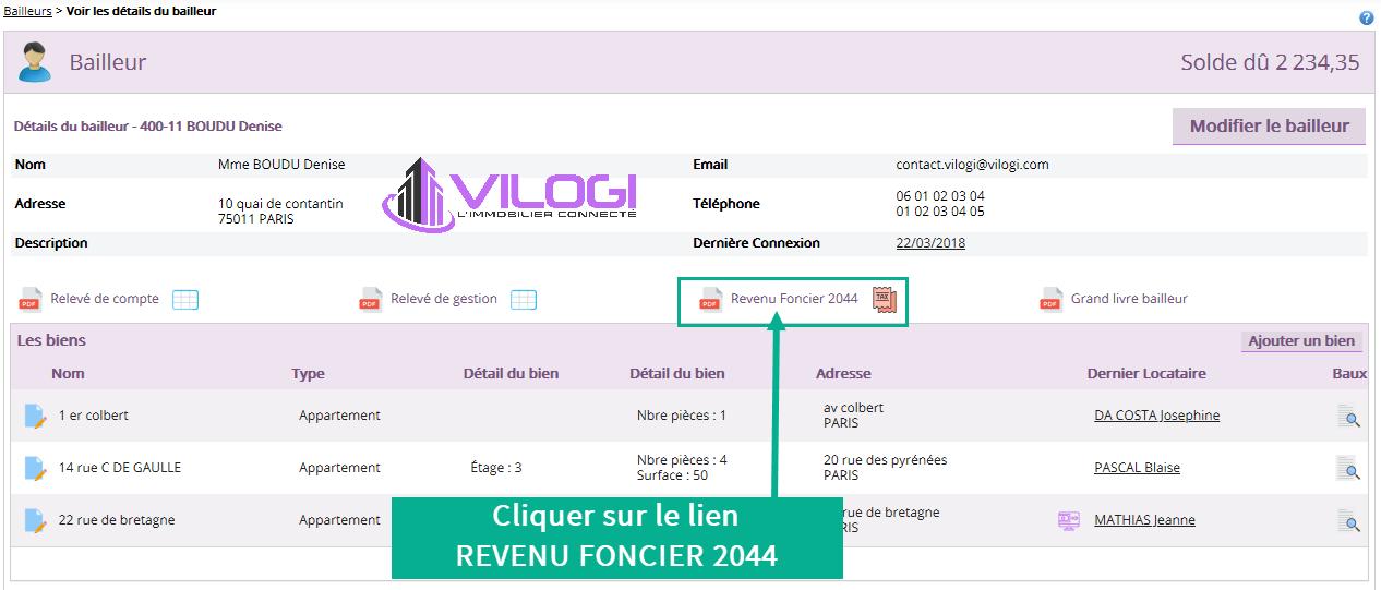 Les déclarations 2044 et 2072 avec le logiciel de gestion locative VILOGI