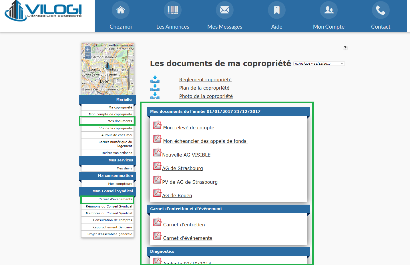 Documents disponibles sur l EXTRANET