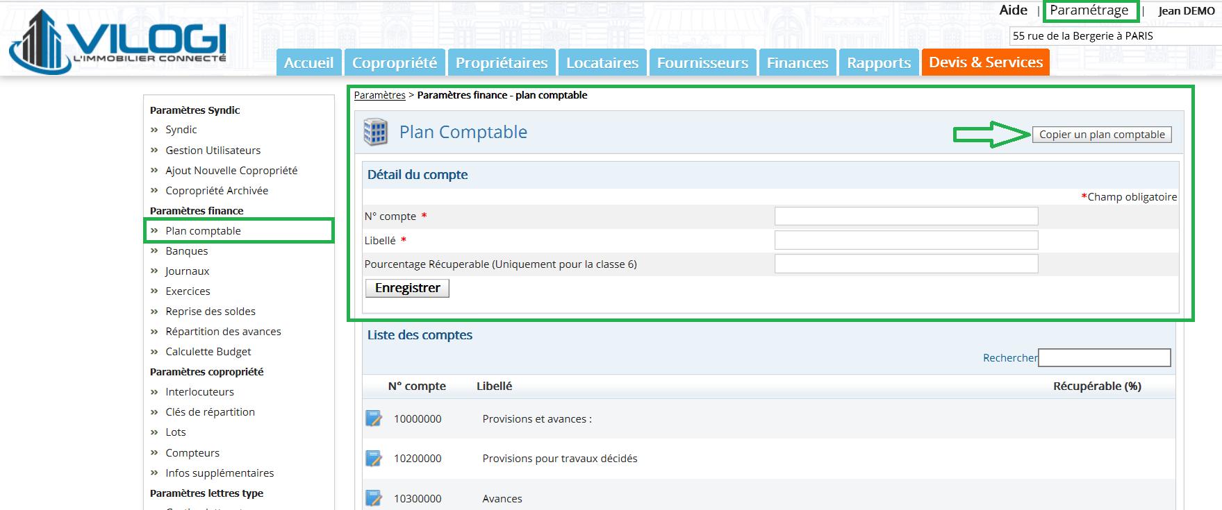 Dupliquer un plan comptable sur le logiciel de gestion syndic