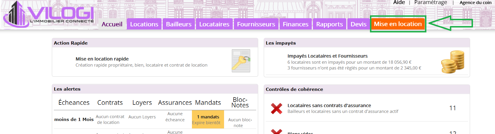 Mise en location en gestion locative