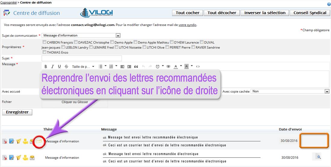Envoyer lettre recommandée électronique