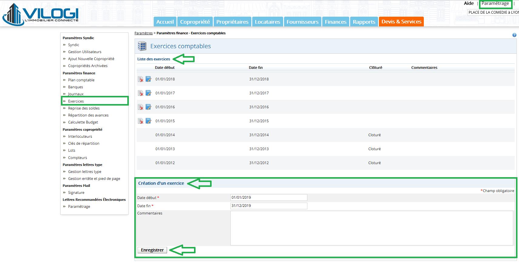 Modifier un exercice comptable en comptabilit de copropri t - Exercice d enregistrement comptable ...