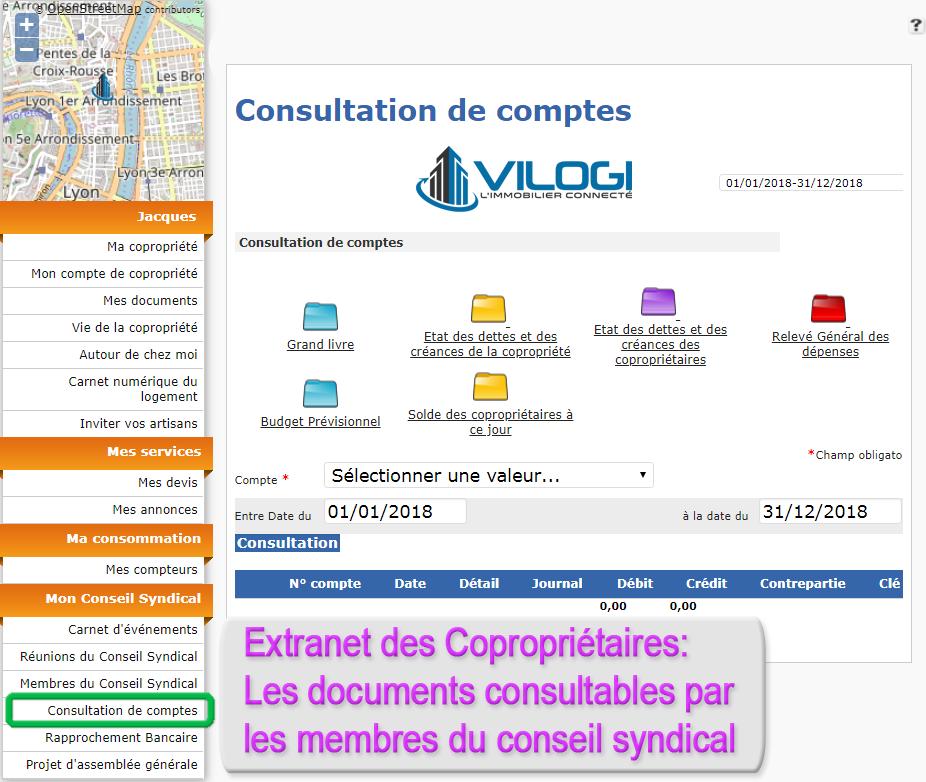 Extranet copropriétaires documents pour le conseil syndical