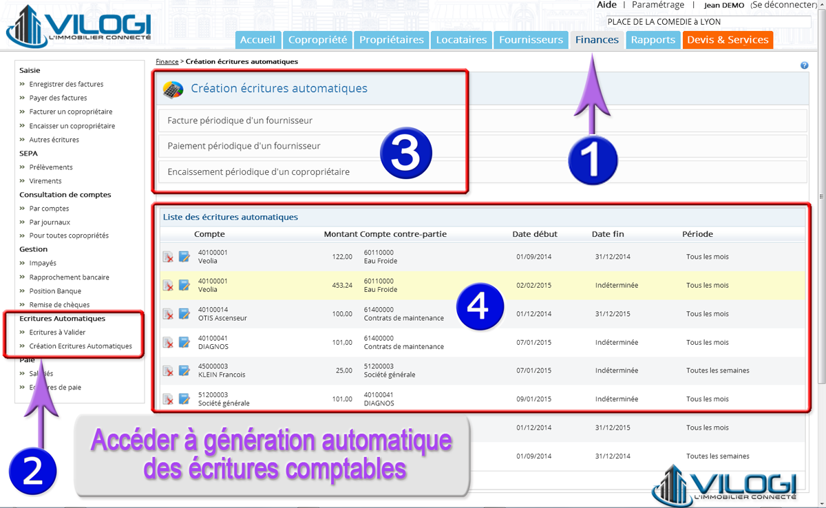 Génération automatique des écritures comptables en copropriété