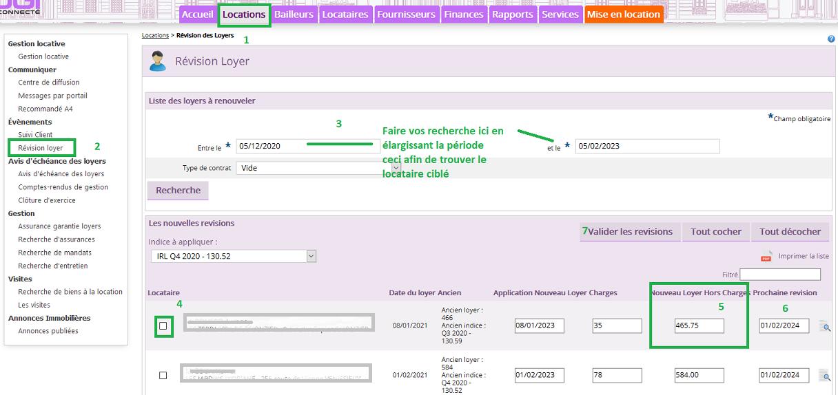 Modifier le loyer du locataire avec le logiciel de gestion locative