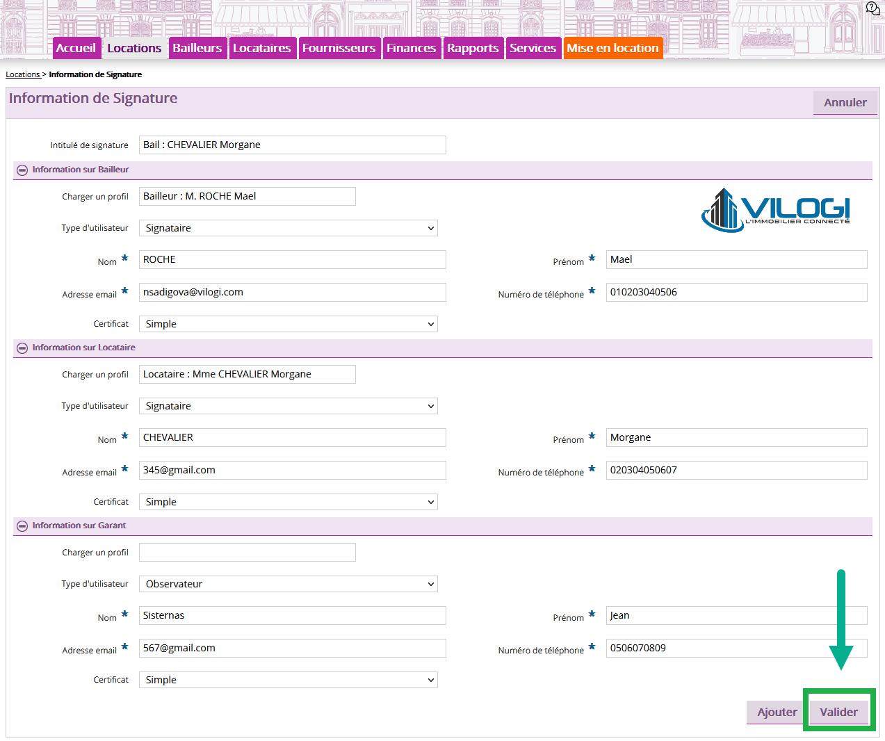 valider la signature électronique sur votre logiciel de gestion locative en ligne